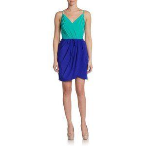 Yumi Kim Jayne Silk Colorblock Tulip Hem Dress